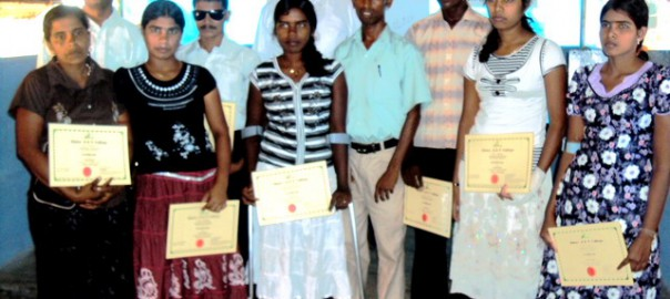 Basic Computer training awarding for the students with disabilities