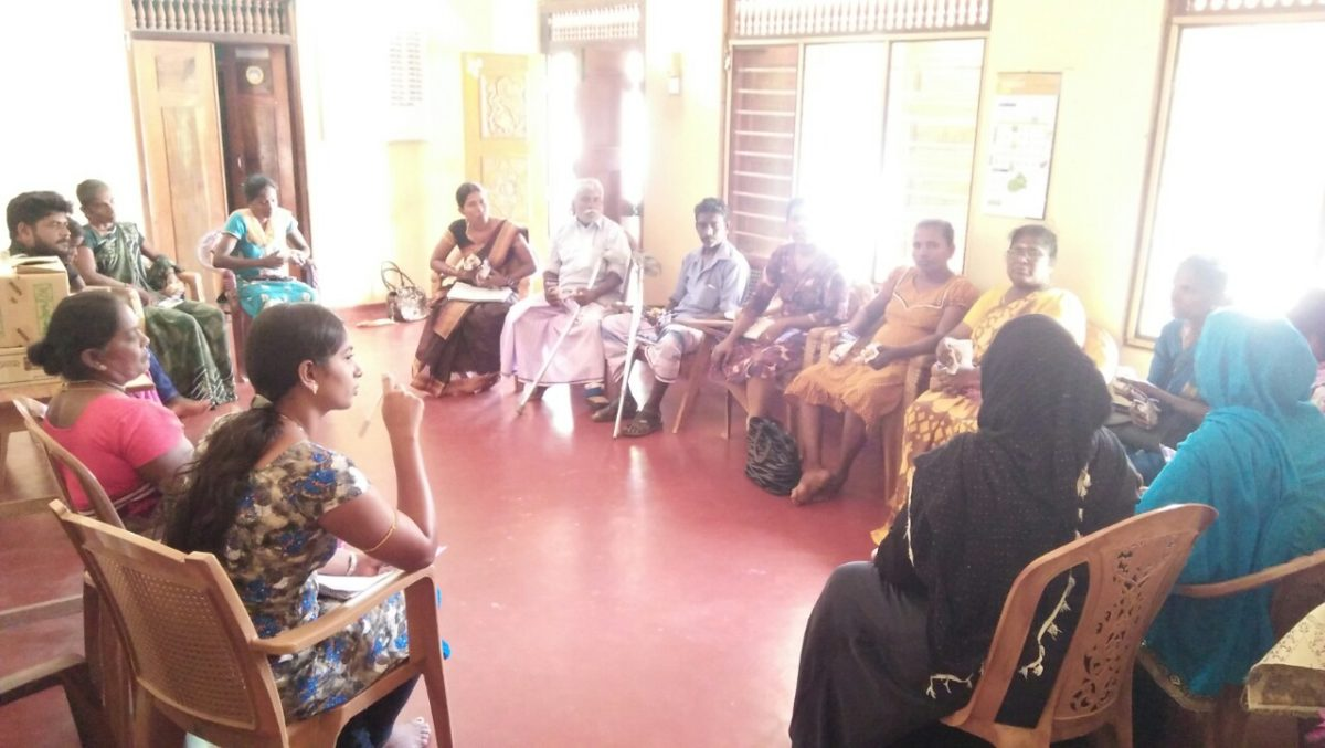 PWDs leader at Chettikulam DS Division meet to encourage the new groups