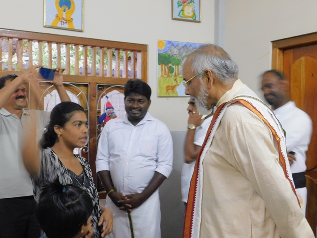 FORMER CHIEF MINISTER AND SUPREME COURT JUDGE C.V. VIGNESWARAN AT VAROD